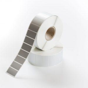 Etiketten PET 38 x 19 mm silber matt