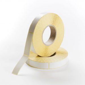 Etiketten Papier 25 x 85 mm weiß seidenglanz